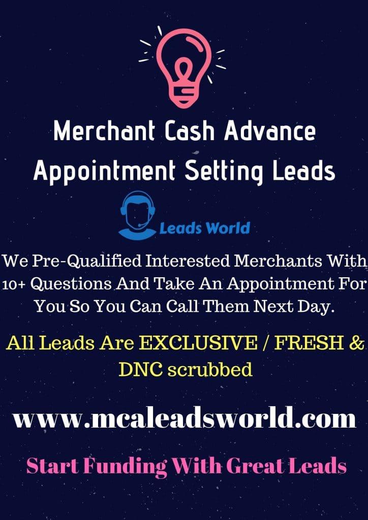 merchant cash advance leads
